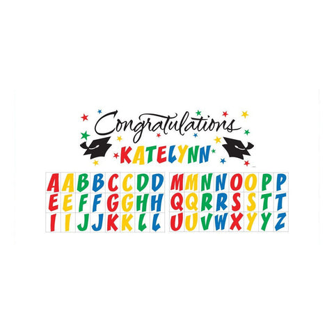 Graduation Giant Party Banner with Stickers/Case of 6