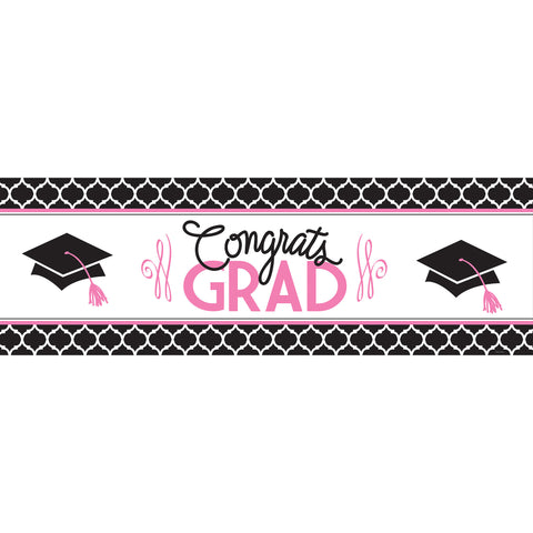 20 x 60 Inch Glamorous Grad Giant Party Banner/Case of 6