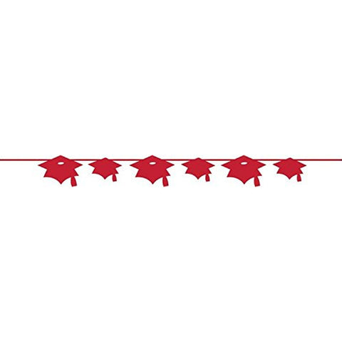 Classic Red Banner Paper Mortarboard/Case of 12