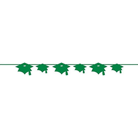 Emerald Green Banner Paper Mortarboard/Case of 12