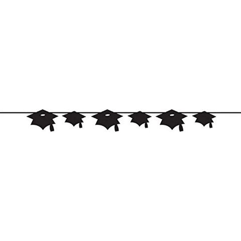 Black Banner Paper Mortarboard/Case of 12