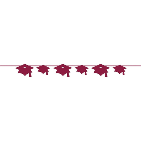 Burgundy Banner Paper Mortarboard/Case of 12