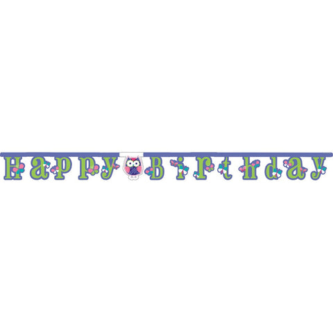 Jointed Banner Large Happy Birthday Owl Pal Birthday/Case of 12