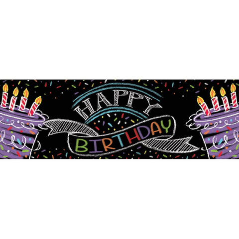 Chalk Birthday Giant Party Banner Happy Birthday/Case of 6