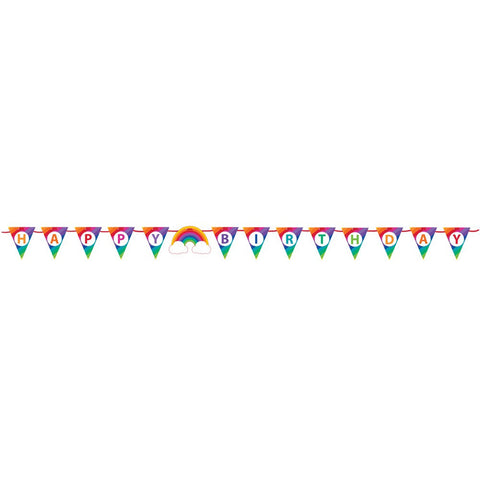Rainbow Shaped Ribbon Banner/Case of 6