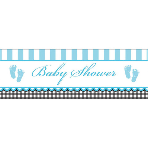 Sweet Baby Feet Blue 60 x 20 Giant Party Banner/Case of 6