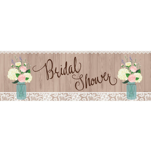 Rustic Wedding Giant Party Banner/Case of 6