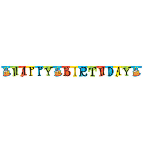 Jointed Banner Large Cake Celebration/Case of 12
