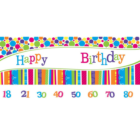 Bright And Bold Giant Party Banner with Stickers/Case of 6