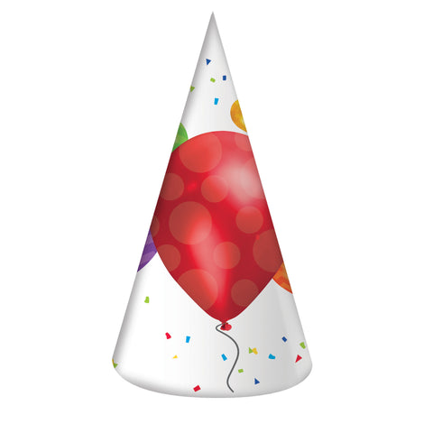 Balloon Blast Adult Size Paper Party Hats/Case of 48