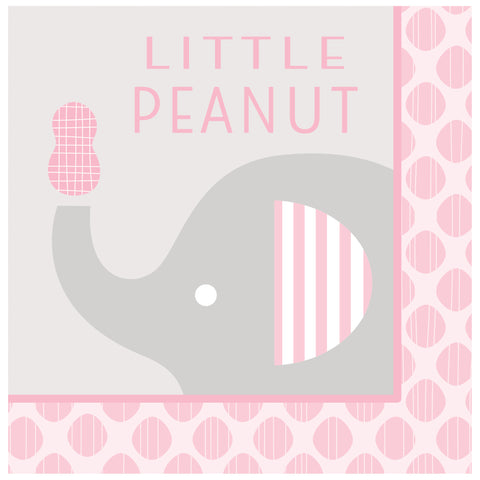 Little Peanut Girl Little Peanut Lunch Napkins/Case of 192