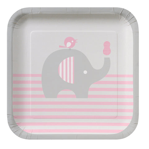 Little Peanut Girl 7 Inch Square Lunch Plate/Case of 96