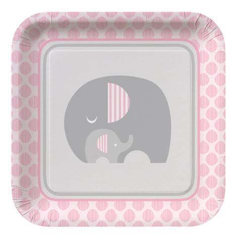 Little Peanut Girl 9 Inch Square Dinner Plate/Case of 96