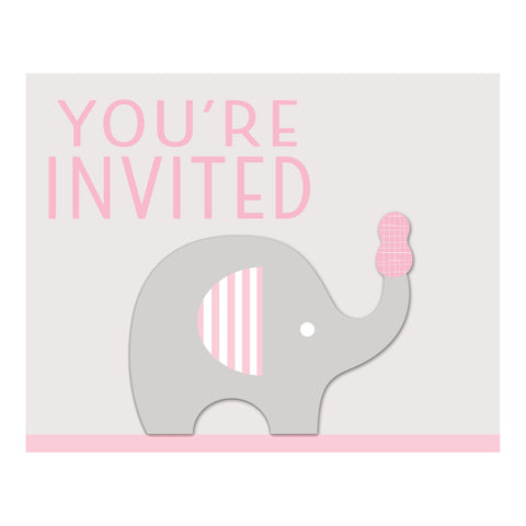 Little Peanut Girl Invitation with Attachment/Case of 48