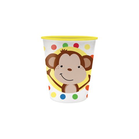 Fun Monkey 12 oz Plastic Keepsake Cup/Case of 12