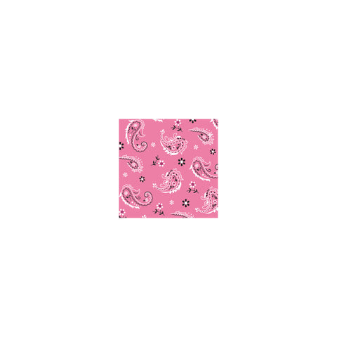 Pink Bandana Cowgirl Beverage Napkins/Case of 192