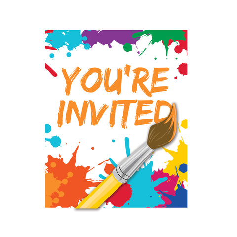 Art Party Invitation with Attachment/Case of 48