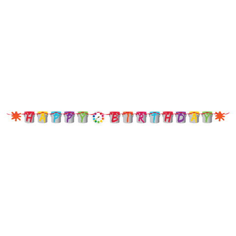 Art Party Ribbon Shaped Banner/Case of 6