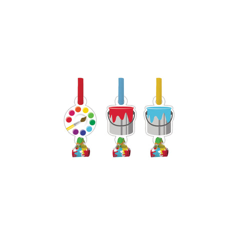 Art Party Blowouts with Medallion/Case of 48