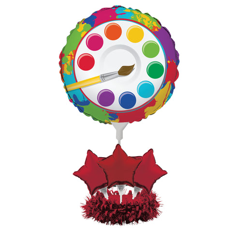 Art Party Air Filled Balloon Centerpiece Kit/Case of 4