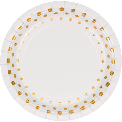 Sparkle and Shine Gold 7 Inch Foil Lunch Plate/Case of 96