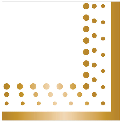 Sparkle and Shine Gold Lunch Napkins/Case of 192