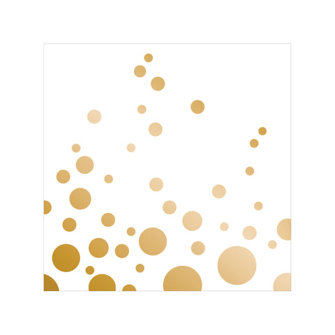 Sparkle and Shine Gold Beverage Napkins/Case of 192