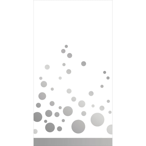 Sparkle and Shine Silver Guest Napkins/Case of 192