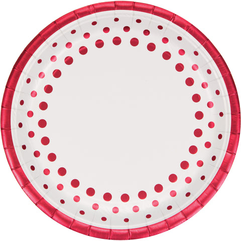 Sparkle and Shine Ruby 9 Inch Foil Dinner Plate/Case of 96