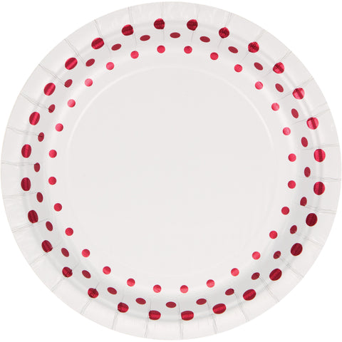 Sparkle and Shine Ruby 7 Inch Foil Lunch Plate/Case of 96