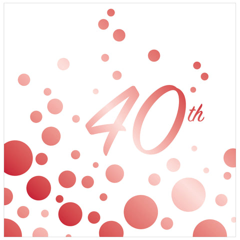 Sparkle and Shine Ruby 40th Anniversary Lunch Napkins/Case of 192