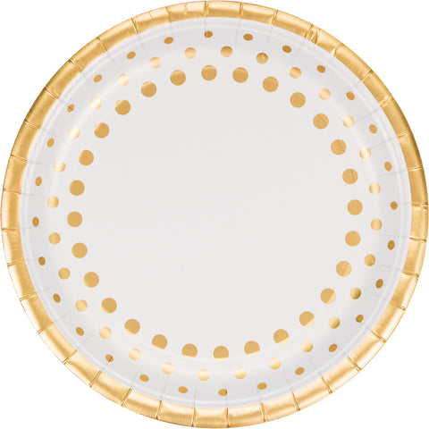 Sparkle and Shine Gold 10 Inch Foil Banquet Plate/Case of 96