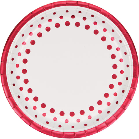 Sparkle and Shine Silver 10 Inch Foil Banquet Plate/Case of 96
