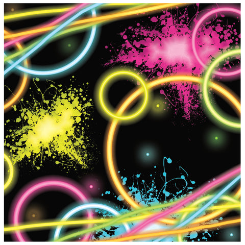 Glow Party Lunch Napkins/Case of 192