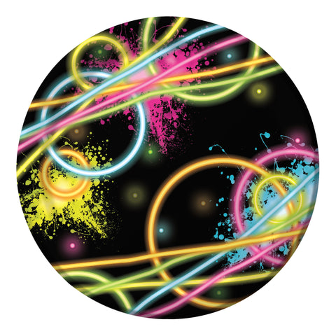 Glow Party 7 Inch Lunch Plate/Case of 96