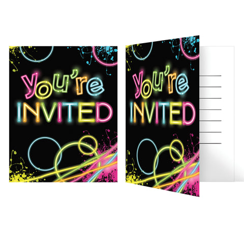 Glow Party Invitation/Case of 48