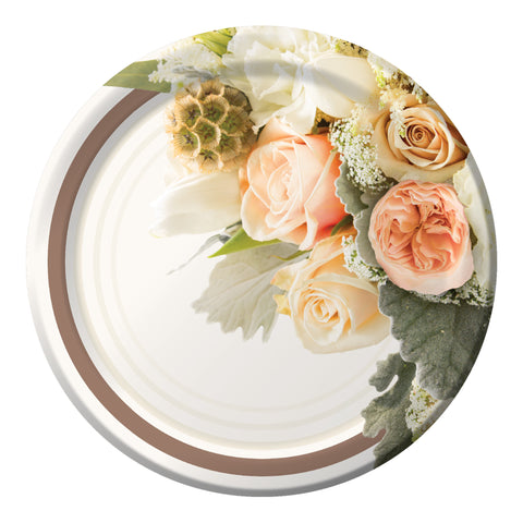 Rose Gold Bouquet 10 Inch Banquet Plate/Case of 96
