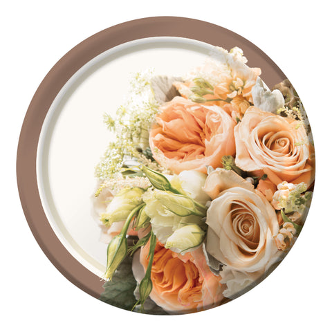 Rose Gold Bouquet 7 Inch Lunch Plate/Case of 96