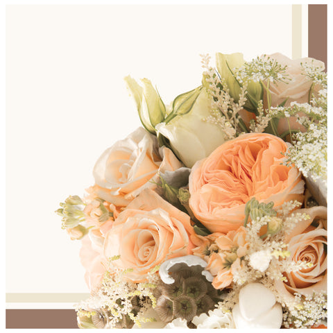 Rose Gold Bouquet Lunch Napkins/Case of 192