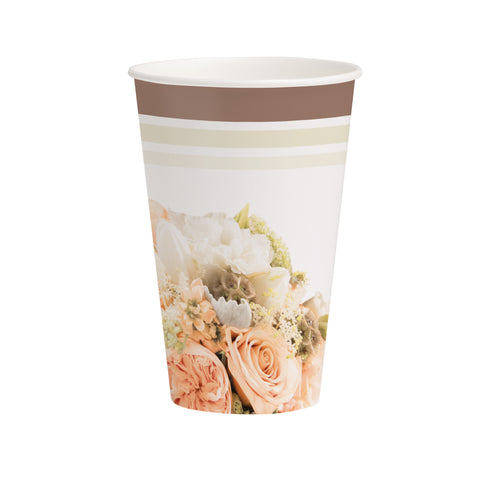 Rose Gold Bouquet 12 oz Hot/Cold Cups/Case of 96