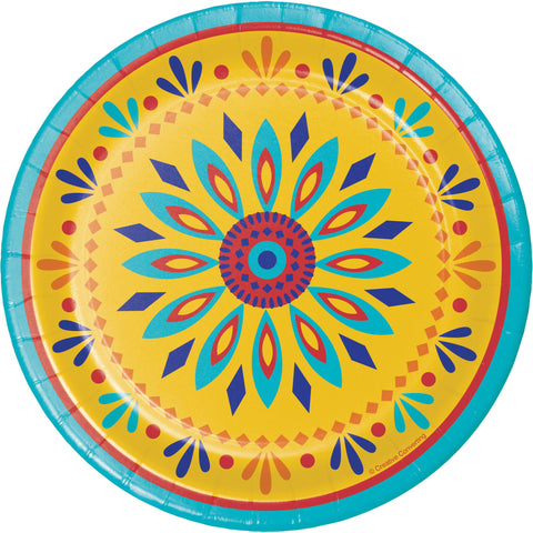 "Painted Pottery 7"" Round Paper Luncheon Plate/Case of 96"