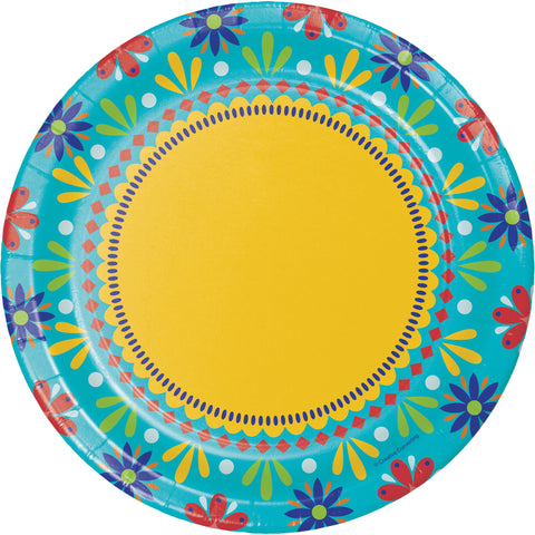 "Painted Pottery 8 3/4"" Round Paper Dinner Plate/Case of 96"