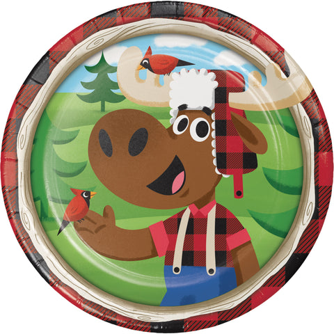 "Lum-Bear-Jack 7"" Round Paper Luncheon Plate/Case of 96"