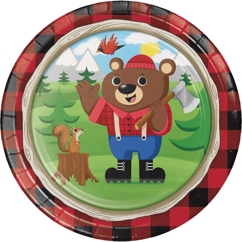 "Lum-Bear-Jack 8 3/4"" Round Paper Dinner Plate/Case of 96"