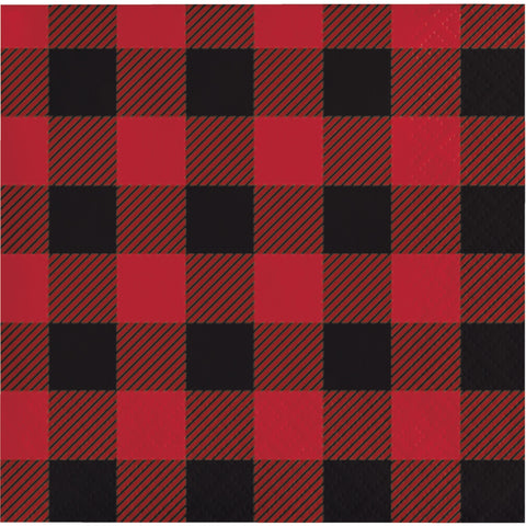 Buffalo Plaid Beverage Napkin/Case of 192