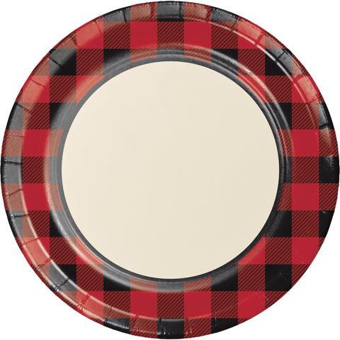 "Buffalo Plaid 8 3/4"" Round Dinner Plate/Case of 96"