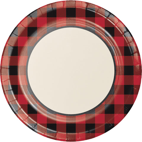 "Buffalo Plaid 10 1/4"" Round Banquet Plates/Case of 96"