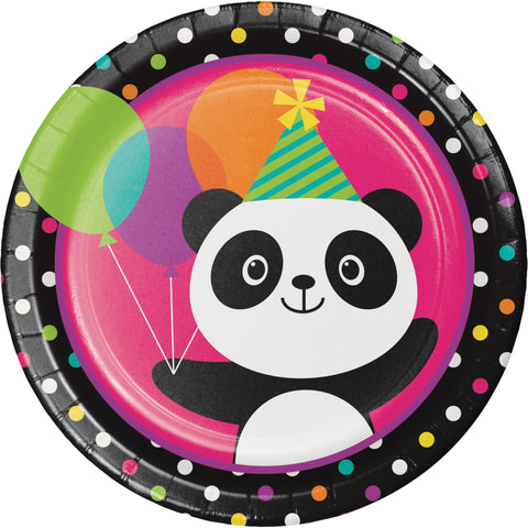 "Panda-monium 8 3/4"" Round Paper Dinner Plate/Case of 96"