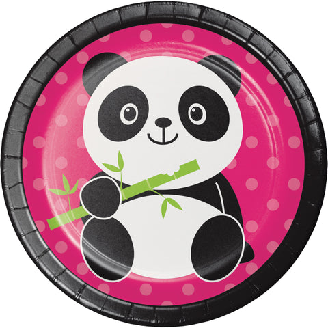 "Panda-monium 7"" Round Paper Luncheon Plate/Case of 96"