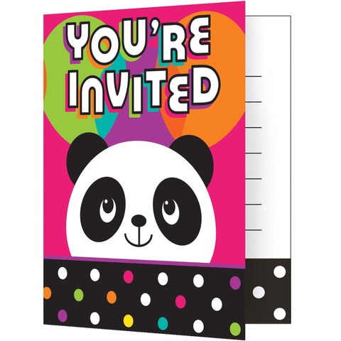 Panda-monium 5 x 4 Invitation Foldover/Case of 48